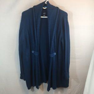 Izod XL Blue Cardigan Sweater